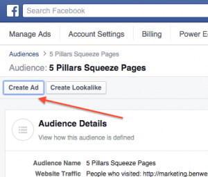 Create Custom Audience Ad